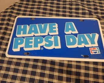 Vintage Pepsi sign, license plate, Pepsi, collectible