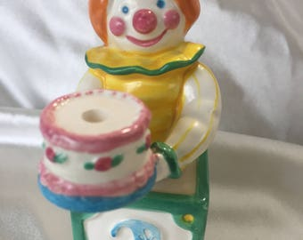 Avon Birthday Cake Topper Candle Holder |Clown ages 1-4 years |vintage 1983
