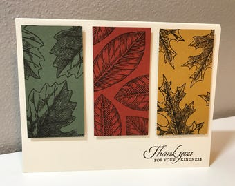 Thank You Handmade Stampin' Up! Card