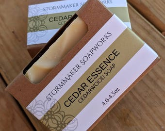 Natural Cedarwood Bath Bar, Soothing, Palm Free, Gluten Free, Handmade Soap