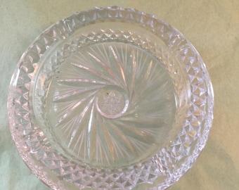 Cut Glass Crystal Ash Tray