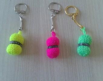 door key shaped ball of yarn knitting