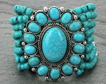 Turquoise Stretch Bracelet - HB6358SBTQ0017