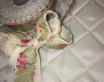 3inch vintage handmade hair bow