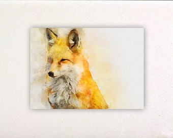 Fox - Watercolor prints, watercolor posters, nursery decor, nursery wall art, wall decor, wall prints | Tropparoba - 100% made in Italy