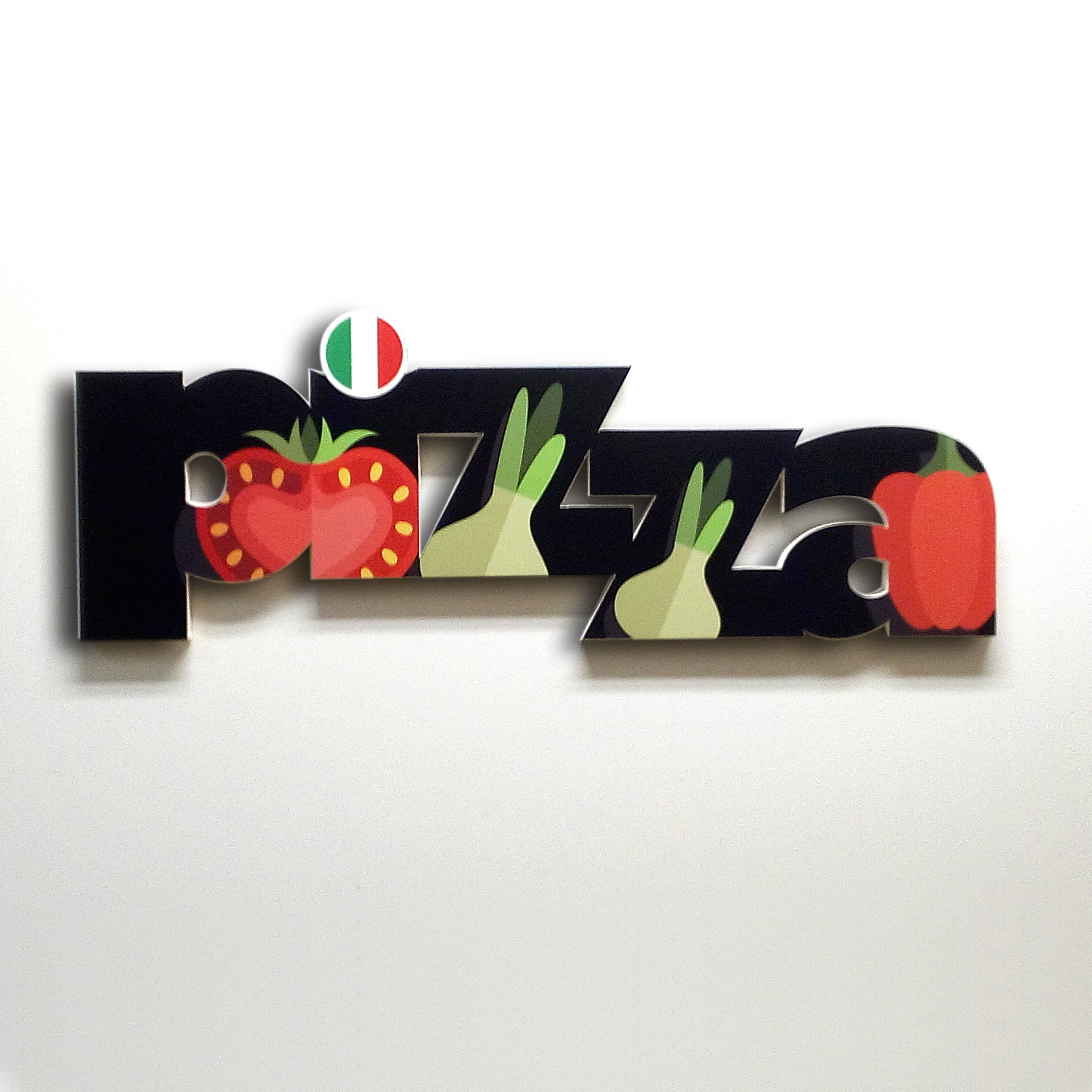 Pizza - Pizza sign, shop sign, wall signs, food signs, signs kitchen ...
