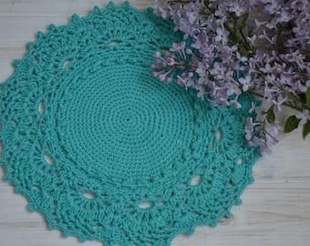 Crochet cotton doily