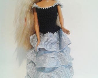 robe à volant poupée barbie