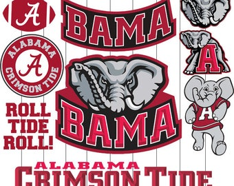 Alabama Crimson Tide Logo SVG Vinyl Cutting Decal, for Mugs, T Shirts, Cars SVG files for Silhouette Cameo Files, SVG Car Decal