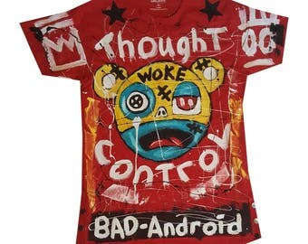 Medium One of a kind, hand painted tee shirt.