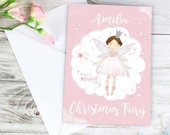 Personalised Fairy Princess Greeting Cards, Personalized Invitation Cards, Custom Cards, Greeting Cards for Kids, Cute Cards, Fairy Card