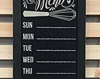 Rustic Chalkboard Menu Country Distressed Wood Frame with Chalk Pen