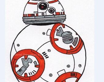 BB-8 Medium Print