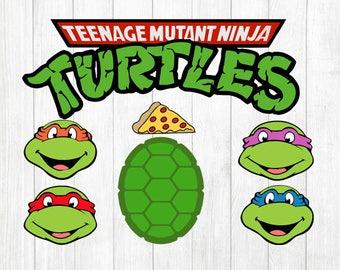 INSTANT DOWNLOAD - Teenage Mutant Ninja Turtle, Ninja Turtles SVG Clipart, Ninja Turtles Clipart, Teenage Mutant Svg, Tmnt Svg, Turtles Svg