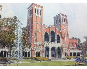 UCLA Bruins LIMITED EDITION Pen and Ink and Watercolor Art Print Illustration - Graduation Gift, university