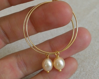 Gold plated hoops and beads