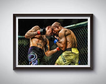 MMA Mixed Martial Arts Inspired Art Poster Painting Print 4