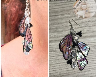 "Earrings ""butterfly wings"" hand made"