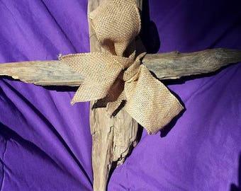 wooden cross, driftwood cross, wall decor