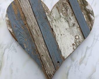 Wooden Heart - Rustic Heart - Rustic Decor - Shabby Chic - Country Decor - Farmhouse Decor - Wedding Decor