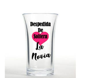 Despedida de Soltera shot glasses, fiesta de despedida de soltera, bachelorette party