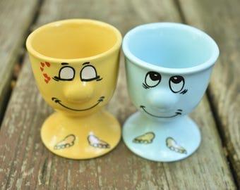 English Googly Eye Egg Cups