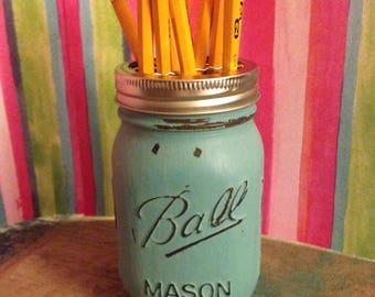 Mason jar pencil holder