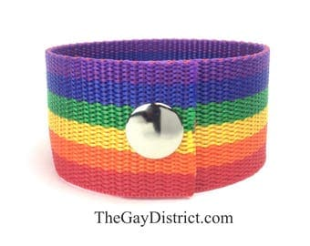 LGBT Gay Pride Rainbow Cuff Bracelet