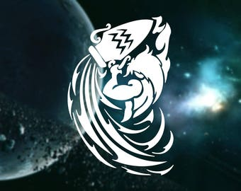 Aquarius Water-Bearer Decal