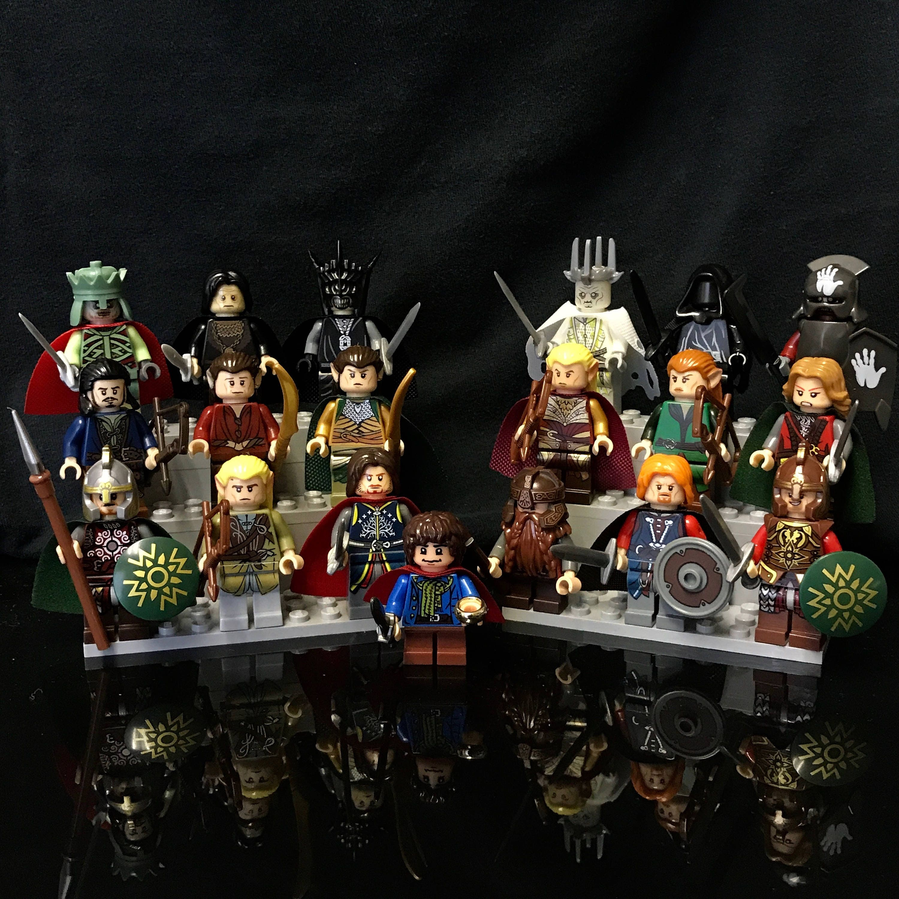 Lord Of The Rings The Hobbit Minifigures Set 19 Custom