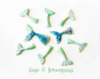 Sage & Lemongrass Wax Melts (2.8 Oz.) - Wax Melts - Handmade Wax Melts - Mermaid Tails - Mermaid Wax Melts - Scented Wax Melts - Wax Tarts