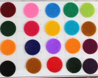 Big Round Colored Bindi Stickers,Wedding Round Bindi,Plain Big Colorful Bindis,Indian Multicolor Face  Bindis,Bollywood Bindis,Self Adhesive