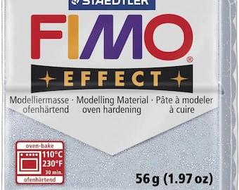 Pâte Fimo 57 g Effect pailletée Argenté 8020.812 - Fimo