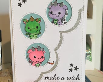 Birthday Card with Baby Dragons