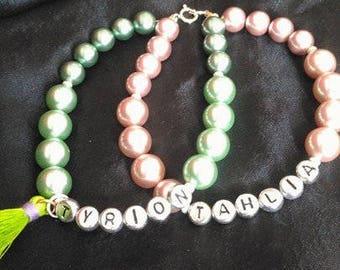 2 tone 2 in 1 personalised bracelet