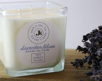 Signature Lavender Bliss Aromatic Soy Candle 11oz