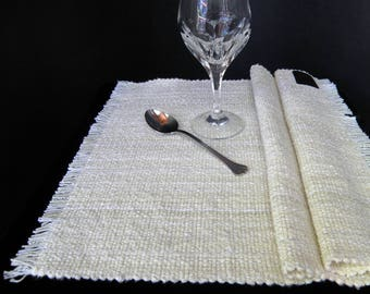 Placemats Pair - Natural White