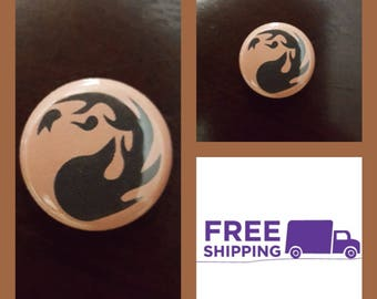"""1"""" Magic the Gathering Red Mana Button Pin  or Magnet, FREE SHIPPING & Coupon Codes"""