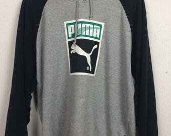 Vintage Puma Sweater Hooded Size XL