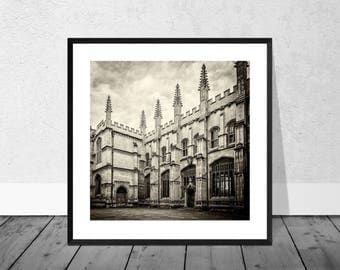 Oxford Art Print, Oxford Photography, Oxford Architecture, Oxford University, Black and White Photography, Home Décor, Graduation, Giclee