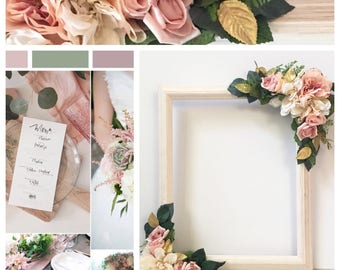 Selfie Station Frame; Selfie Frame; Photo Prop Frame; Floral Selfie Frame; Selfie Props; Bachelorette Party Photobooth Frame; Photo Prop