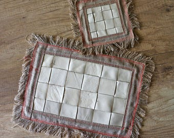 "Table mats ""Wicker-set 1+1"""