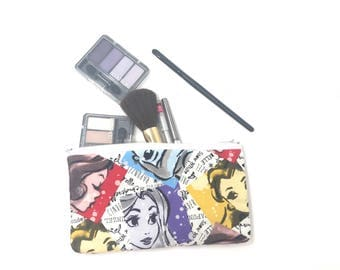 Cosmetic Bag, Makeup Brush Holder, Make-up Bag, Makeup Bag, Pencil Case, Makeup Organizer, Makeup Organizers, Zipper Pouch, Princess, Belle