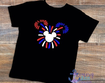 Patriotic 4th of July Mickey Ears Fireworks, Fourth Of July Mickey Fireworks, Minnie Fourth Of July Shirt, Disney Vacation Shirts