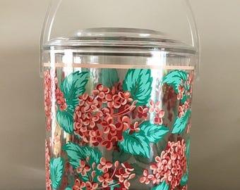 Culver Floral Acrylic Ice Bucket | Vintage Barware