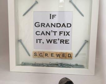 Grandad/Dad Screwed Frame / Father's day / birthday