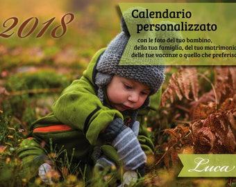 Custom calendar (30 x 21 cm closed)-printed in 5 copies