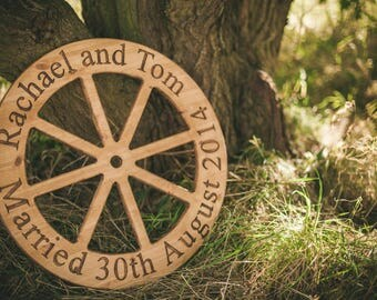Rustic Wedding Wheel Personalised Gift
