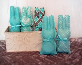 Baby Nursery Bunnies, Set of Five, Baby Nursery Decor, Baby Shower Gift