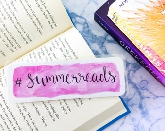 Aquarel bookmark - '#summerreads'